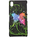 Green Butterfly Pattern Hard PC Case for Sony Xperia Z2