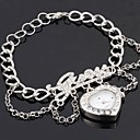 Popular Womens CZ  Rhinestone LOVE Heart Shape  Alloy Magic Chain Wrist Watch