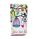 Love Birds And Birdcage Pattern PU Leather Full Body Case for Samsung S4 I9500
