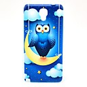 Owl on The Moon Pattern Hard Back Case Cover for Samsung Galaxy Note 3 Lite