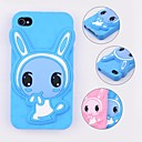 Silicone Soft Case with Shy Rabbit for iPhone 4/4S (Assorted Colors)