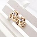 Diamond Elegant Twist Lines Stud Earrings(Gold and Silver)