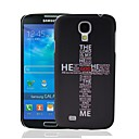 Christian Jesus The Cross of Words Letters Pattern Plastic Hard Protective Case for Samsung Galaxy S4 i9500