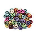 Colorful Hollow Anti-War Pattern Plastic Interval Beads (26pcs)