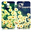 Flowers PU Leather Full Body Case for Samsung Galaxy S5 I9600