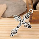 BaoGuang5034MM Alloy Hollow Out Cross Charms Jewelry DIY(5pcs)