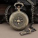 Mens Round Hero Fire Fighter Quartz Analog Pocket Watch
