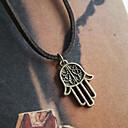 Hamsa Classic Bronze Hand Shape Leather Hamsa Pendent Necklace(1 Pc)