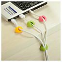 organizador de cables de alambre de escritorio clip de fijación del soporte del cable del cargador USB ordenada 4 PC