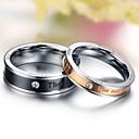 Only Love Couples Diamond Plating Titanium Steel ring