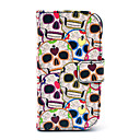 Heart Skull Pattern Full Body Case with Card Holder for Samsung Galaxy Trend Duos S7562/S7560