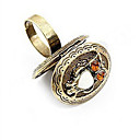 European Owl Pattern Box Womens Bronze Alloy Statement Rings(1 Pc)