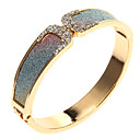 Vintage frosted Word X Shape Diamanted Alloy Cuff Bracelet(1 Pc)