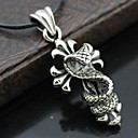 Fashion And Personality Cross Snakes Steel Pendant Necklace