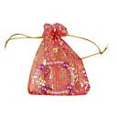 100 azar bronceado mixto organza estirable bolsas de regalo de boda y bolsas (color al azar)