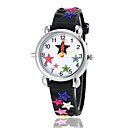 Children's Lovely Star Pattern Flashlight LED Light Silicone Band Quartz Wrist Watch (Assorted Colors)