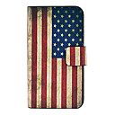 Vintage Us Flag Pattern Full Body Leather Tpu Case for iPhone 4/4S