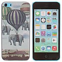 Colorful Hot Air Balloon Elephant Design Pattern PC Hard Case for iPhone 5C