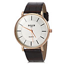 Unisex Simple Alloy Round Dial Pu Leather Band Quartz Analog Wrist Watch (Assorted Colors)