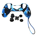 PS4 Protective Silicone Case with Chain  D-pad  Rocker Cap  Nonslip Silicone cap Set