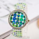 Womens Colorful Block Dial  Silicone Band Quartz Analog Luminous Wrist watch