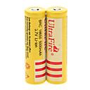 UItraFire BRC 5000mAh 18650 Battery (2pcs)   2 Pcs/Lot Hard Plastic Battery Storage Box for 18650 Battery