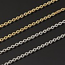 18K Real Gold Plated Link Chain Choker Necklace for Pendant Adjustable 2.7MM 20Inches 50CM