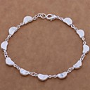 New Fashion 8inch Womens 925 Silver Plated Chain  Link Bracelets