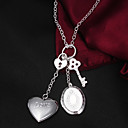 Mens Silver Plated Locket Necklace Could Keep Girlfriends Photo