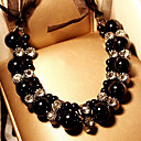 Fashion  (Pearl) Black Fabric Choker Necklace() (1 Pc)