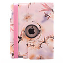 Color Flower Design 360 Degree Rotating PU Leather Case  Stand for iPad 2/3/4 (Assorted Color)
