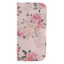 Pink Flower Design Pu Leather Full Body Case for HTC M7