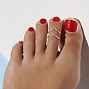 Anillo del dedo del pie Diseño Único, Europeo, Moda Mujer Dorado / Negro / Plata Joyería Corporal Para Regalos de Navidad / Diario / Casual