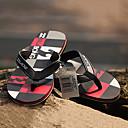 quiksilver-mens-beach-sports-plaid-pattern-blackred-flip-flops-bg005