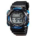 Quartz Wrist Watch Sport Watch LED Silicone Band Casual Black
