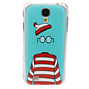 The Beautiful Hat Glasses Clothes Pattern PC Back Case for Samsung S4/I9500