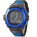 Children Round Dial PU Band LED Multifunction Sports Wrist Watch 30m Waterproof