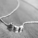 Sans - européen (chaîne avec trois coeurs) d'or, collier pendentif en alliage d'argent (or, argent) (1 pc) pas cher