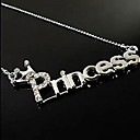 Fashion Zircon Letters of Princess Necklace