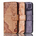 5.5 Inch Map Pattern Wallet Leather Case  for iPhone 6 Plus(Assorted Colors)