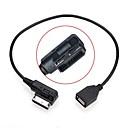 0.2m macho a hembra en medios ami usb mdi cable adaptador unidad flash aux para el audi vw coche 2014 a4 a6 q5 q7