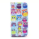 Colorful Owls Pattern PU Leather Cover with Stand and Card Slot for iPhone 6 Plus