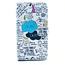 OKAY Words Scrawl Pattern PU Leather Full Body Case for Samsung Note3 N9000