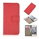Engraved Flower PU Leather Wallet Case with Card Slot Function for iPhone 6