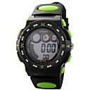 Children Round Dial PU Band Multifunction LED Digital Sports Wrist Watch 30m Waterproof (Assorted Colors)
