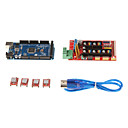 3D Control panel kit(RAMPS 1.4  2560 Main Control Panel 4988 Driver with fins)