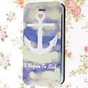 Special Grains Ship Anchors Pattern PU Full Body Case with Card Slot for iPhone 5/5S