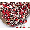 2MM Fashion Cellphone Multicolor Acrylic Flatback Faceted Round Sticky Rhinestones Gems(1000 Pcs)