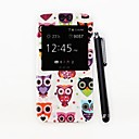 Lovely Owls Pattern PU Full Body Case with Stand and A Stylus Pen for Samsung Galaxy S5 I9600