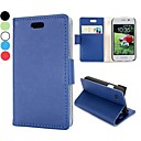 Fashion Wallet Style Magnetic Flip Stand Leather Case with Card Slot for LG L40 D170(Assorted Colors)